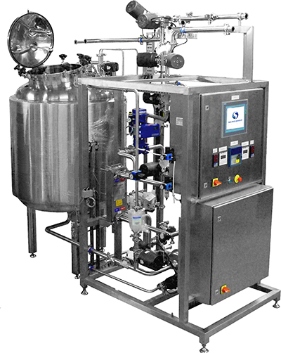 A typical re-use system pharmaceutical CIP unit